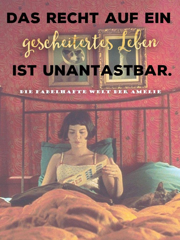 """Was für ein wunderbarer Film, was für eine wunderbare Rolle und was für ein wunderbares Zitat von Audrey Tautou in ihrer Rolle der """"Amelie"""" im Film """"Die fabelhafte Welt der Amelie""""."""