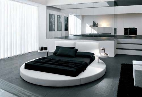 Talk about an industrial/modern hotel look...looks great!!! Would work with any color since everything else is white