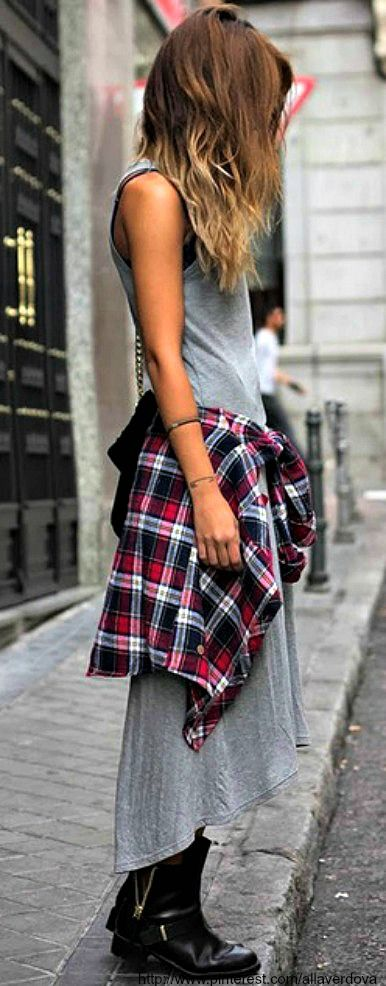 Marl and plaid