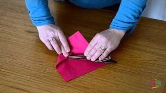 wrap cutlery in paper napkin - YouTube