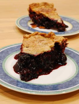 The BEST Blackberry Raspberry Pie... I even used store bought crust and frozen berries and it was soo good!!