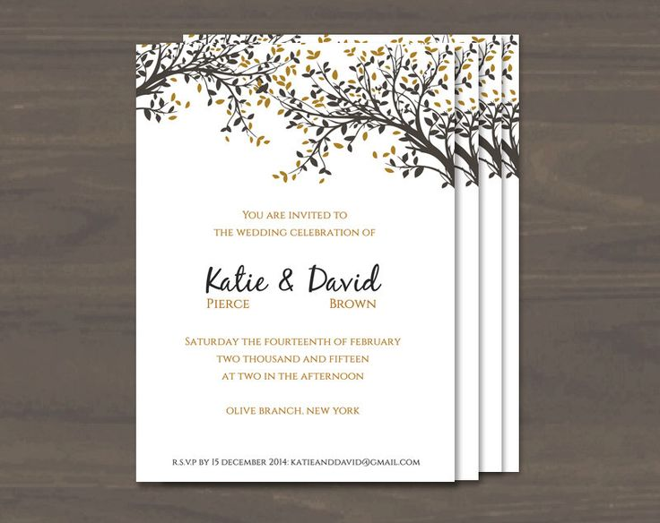 64 best Wedding invitations images on Pinterest Printable - invitation template for word