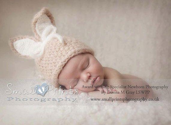 Newborn Bunny Hat Baby Bunny Hat Unisex Bunny by verityisabelle, £32.60