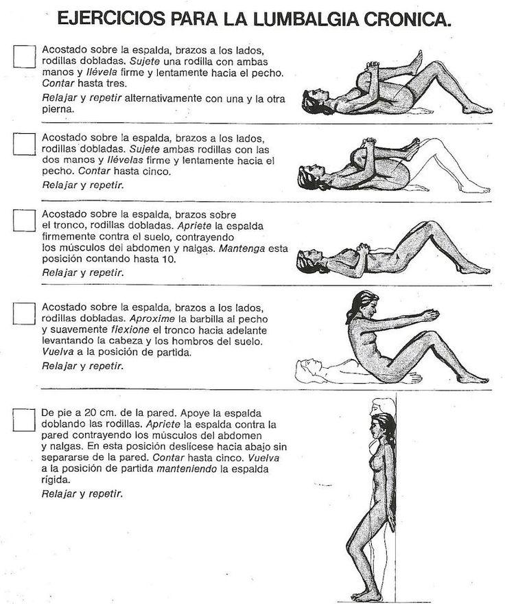 ejercicios recomendados para la #lumbalgia. haraiberia.com