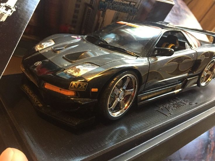 Muscle Machines Acura NSX Street Racing Drift Car 1:18 Scale  Diecast Rare Black #MuscleMachines #Acura