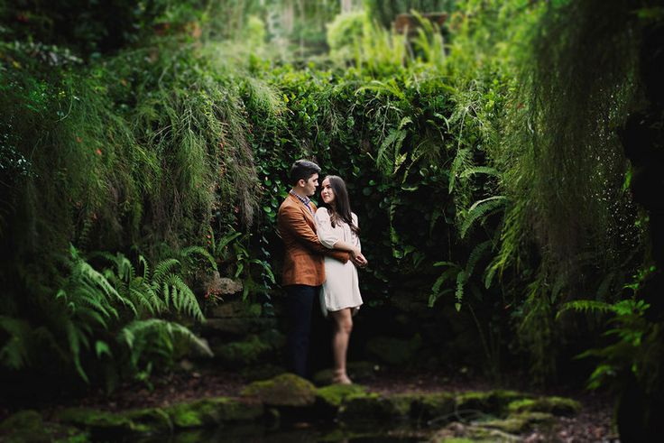 Kim & Dakota - Bok Tower Garden's Engagement - Lake Wales, F Photo By Madison Hope Photography