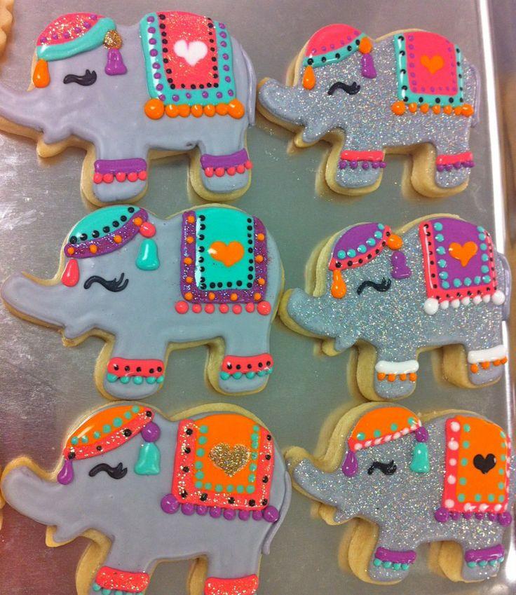 Cute Indian elephant cookies.