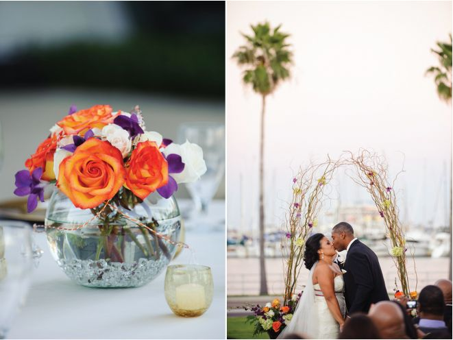 130 Best PURPLE And ORANGE Wedding Ideas Images On