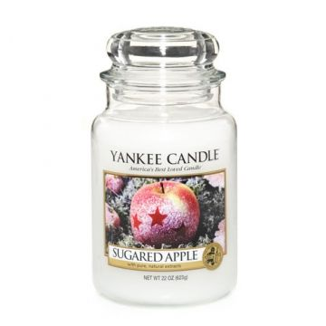 Yankee Candle Sugared Apple : A deliciously sweet apple treat . . . a perfect recipe of juicy apples sprinkled with sugar and vanilla. ♥