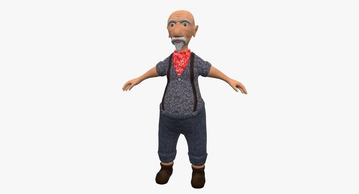 Old Man Cartoon 3D Model - 3D Model
