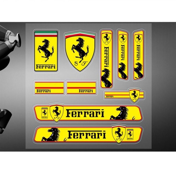 Car stickers high quality decals racing motor sports logo for Ferrari 10 Pcs/set #Unbranded