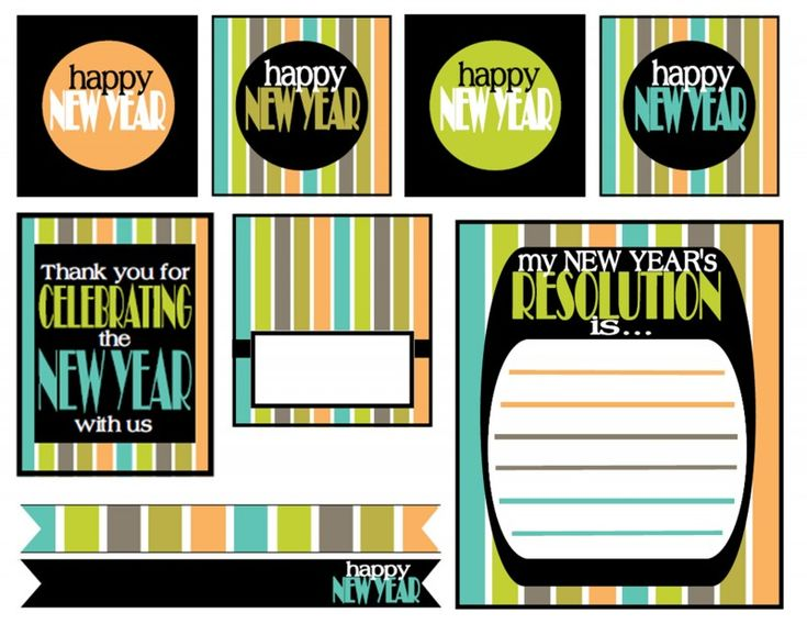 19 best Free Printables New Years Party images – Free New Years Eve Party Invitations