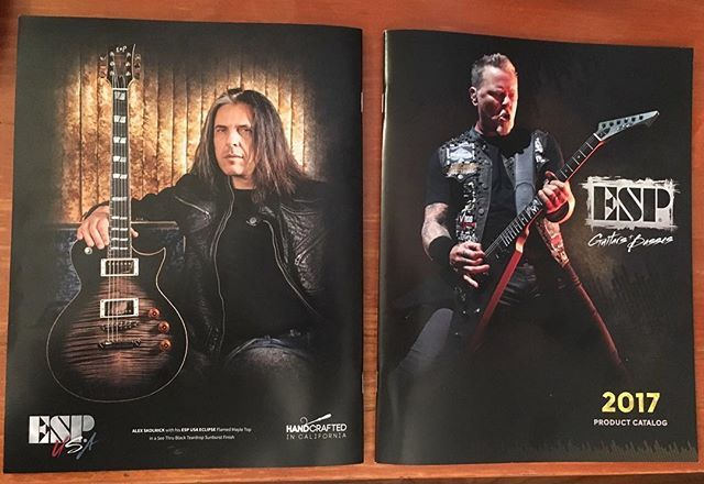 ‪Post #NAMM2017 whew! Many notes were played & much fun was had. Humbled to make the back the cover of the new @espguitars catalogue - not sure who the guy on the front is (kidding)‬ #NAMM #ESP #ESPGuitars #Metallica #JamesHetfield #AlexSkolnick #ESPUSA