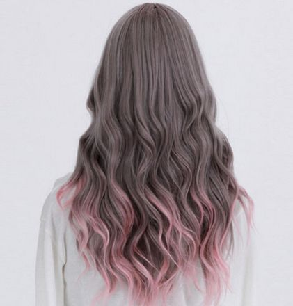 Rot braun lila haare