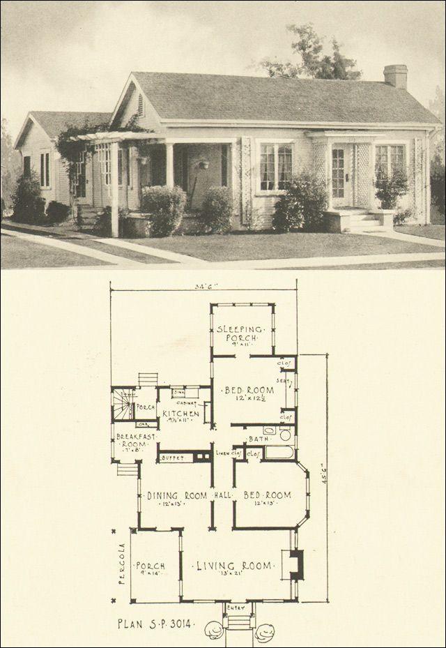 306 Best Images About Vintage House Plans On Pinterest