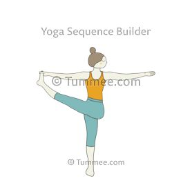 revolved hand to big toe pose yoga parivrtta hasta