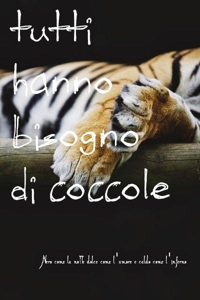 Nero come la notte dolce come l'amore caldo come l'inferno: tutti hanno bisogno di coccole.. ___ L.B.©
