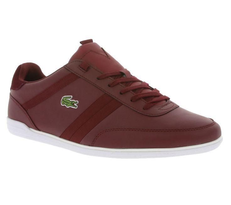 NEU LACOSTE Giron Leather Schuhe Herren Sneaker Turnschuhe Rot 7-32SPM0062112