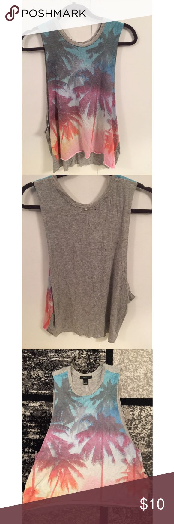 Forever 21 muscle tank Super cute palm tree muscle tank top from forever 21. New condition. Forever 21 Tops Muscle Tees