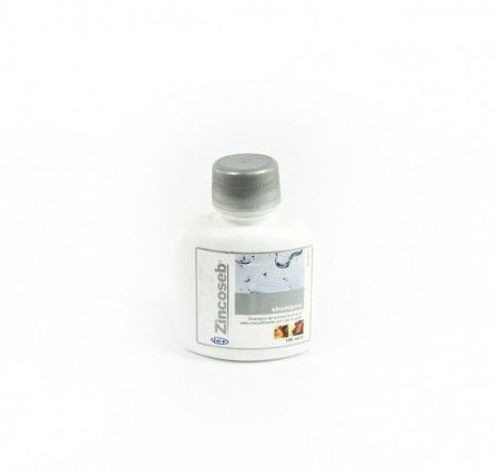 Zincoseb Shampoo 100 ml. Szampon Zincoseb dzięki zawartości siarki koloidalnej i kwasu salicylowego stymuluje regenerację skóry podczas łupieżu. Szampon odgrywa ważną rolę w procesie zapobiegania złuszczaniu się naskórka. Synergistyczne działanie substancji aktywnych i glukonianu cynku poprawia witalność skóry, i łagodzi świąd. Lanolina nawilża skórę i przyspiesza jej regenerację.