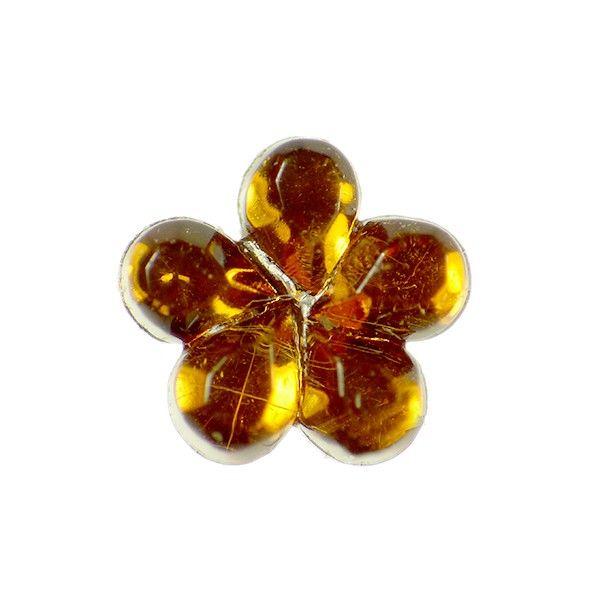 Fleurs Marron Strass 3mm (Lot de 10)