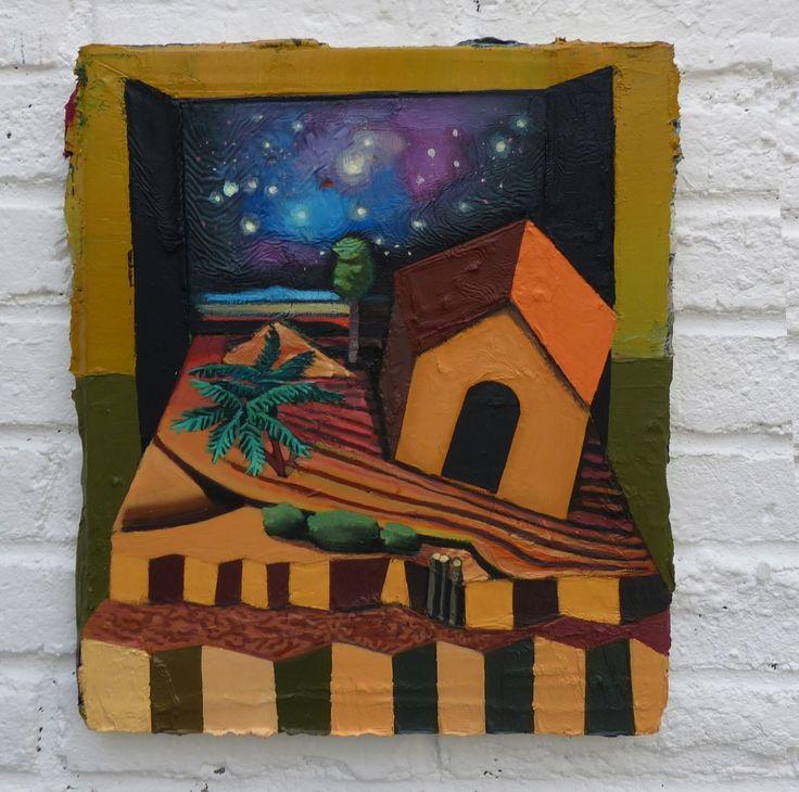 Mathieu Cherkit Cosmic Hut, 2015  Huile sur toile 40 x 30 cm Oil on canvas 1113⁄16 X 153⁄4 in