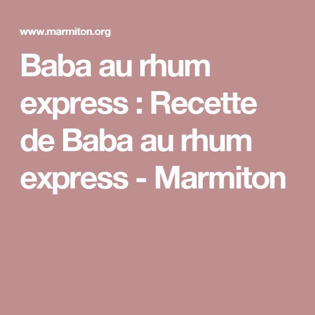 Baba au rhum express : Recette de Baba au rhum express - Marmiton