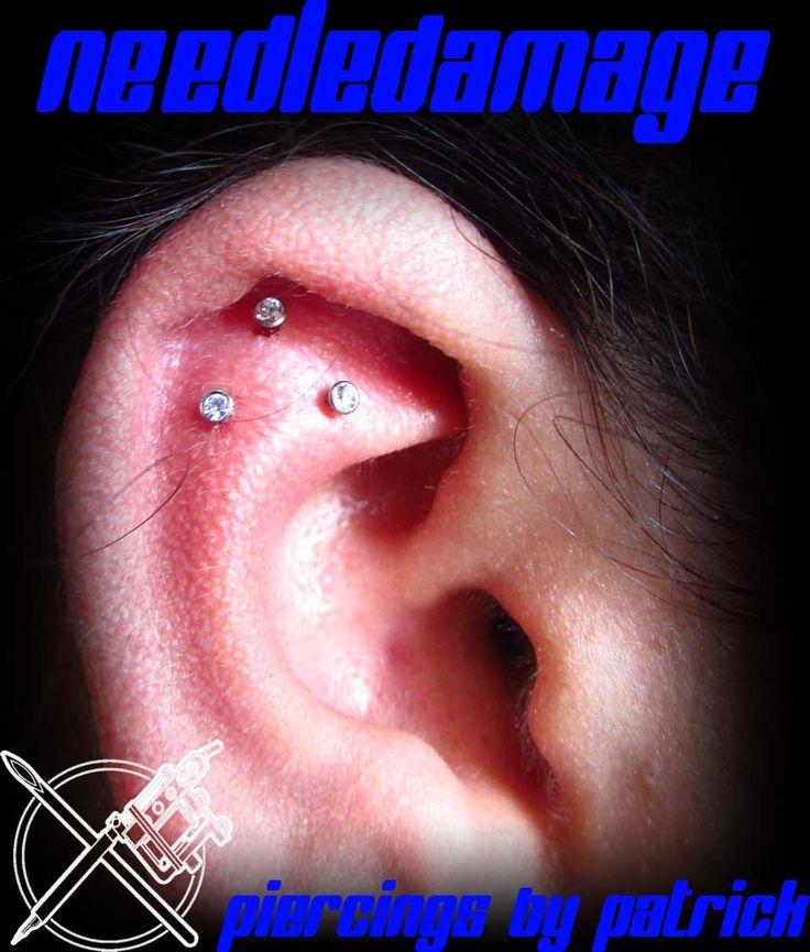 Upper cartilage piercing