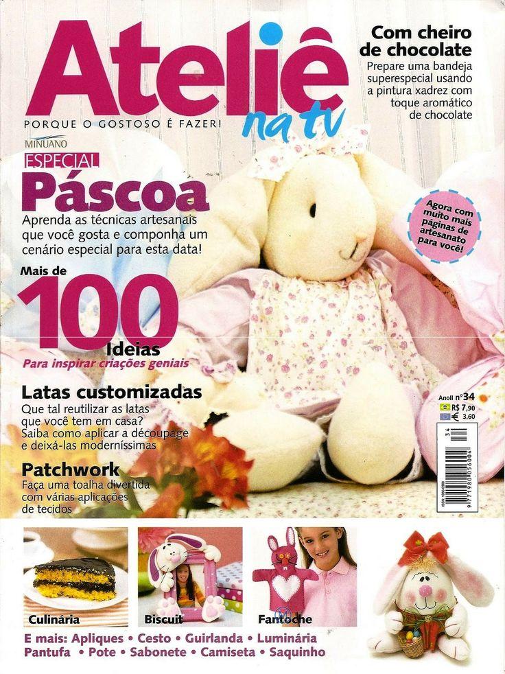 Artesanato Com Madeira ~ revista atelie na tv pascoa revistas artesanato Pinterest TVs