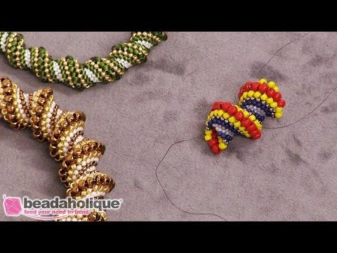 How to Do a Seamless Join in a Cellini Spiral in Beadweaving - Instructional Videos - Beading Resources | Beadaholique