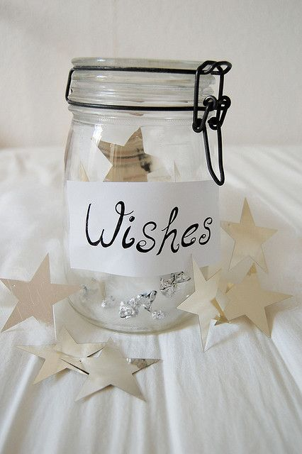 """At Wish Interview, Volunteer could bring Jar marked """"Wishes"""", made of 4 different stars. Could ask the child to write one wish for each type """"I wish to be"""", """"I wish to have"""", """"I wish to go"""" and """"I wish to meet"""". Then, the volunteer could tell the child to mark 1-4 in order of what they want the very most. Also - could be cute to have guests write """"their wishes"""" for wish child at send-off party."""