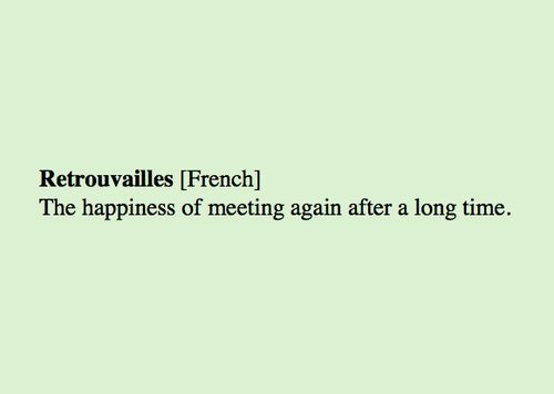 retrovailles: a word we should have in English.