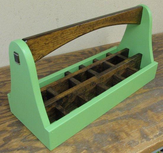 Green Crayon Caddy Art Caddy Crayon Carrier Tool by SmithwickandCo