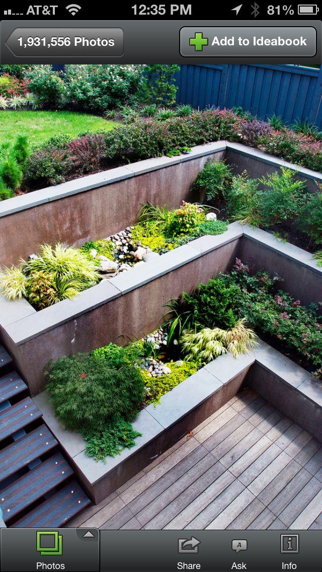 Redo retaining wall/planters. #PinMyDreamBackyard