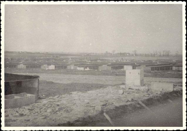 Majdanek, Poland, April 1948, General view of the death camp.