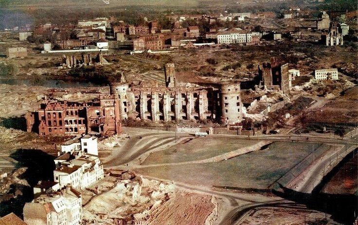 История и современность - Центр Калининграда с воздуха около 1960 года