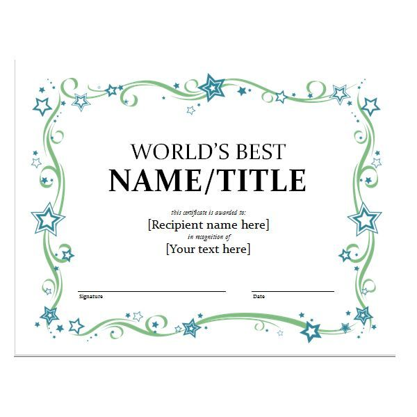 Más de 25 ideas únicas sobre Certificate templates for word en - Award Certificate Template Word