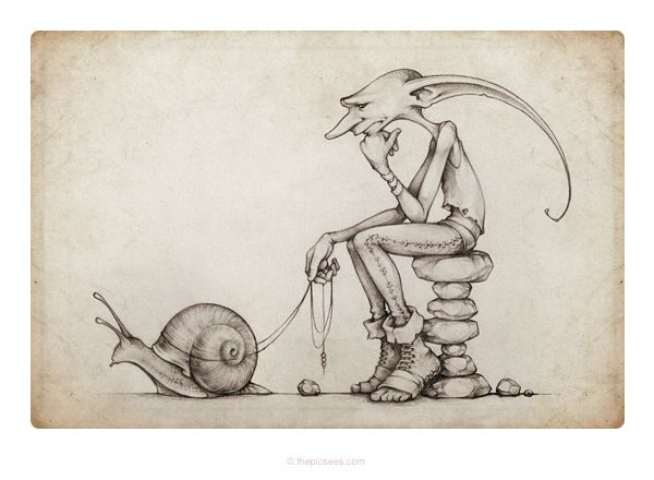 our friend Ingo and his snail by thePicSees.deviantart.com on @DeviantArt