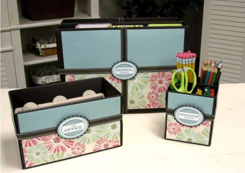 homemade cards storage boxes | ... index cards, and more on your desktop with various sized tissue boxes