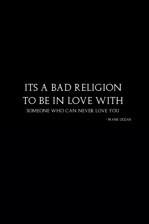 Frank Ocean #BadReligion: this song......