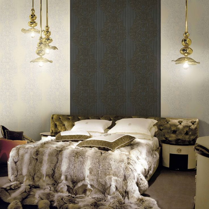 25 best images about roberto cavalli on pinterest for Fur wallpaper room