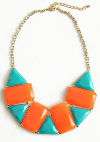 Orange and blue necklace