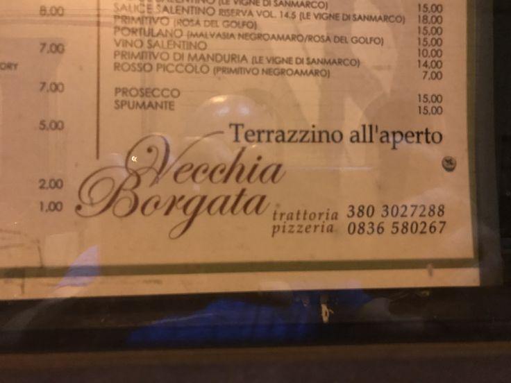Fantastic Local Italian Restaurant In A Small Town Outside Otranto