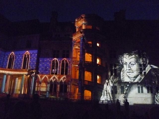Blois Chateau in the Loire Valley: Son et lumiere at Blois Chateau, Loire Valley