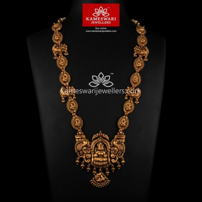 Buy Necklaces Online Gajalakshmi Nakas Haar From Kameswari Jewellers Necklace Online Gold Jewelry Simple Necklace Gold Necklace Designs