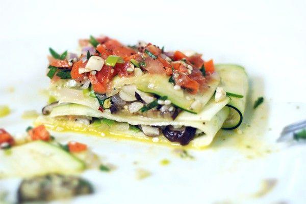 Vegan lasagne van courgette