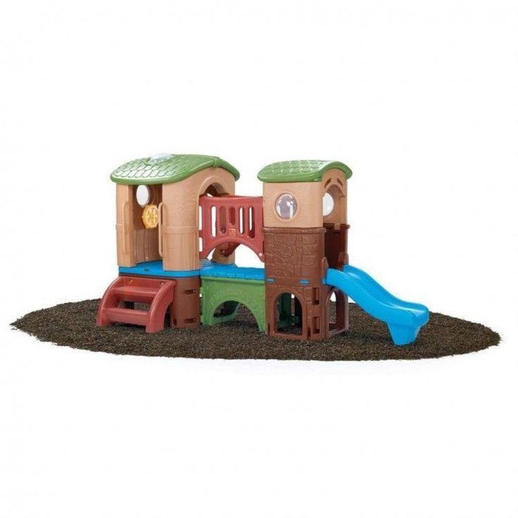 Kids Outdoor Playhouse Garden Play Backyard Activity Playground Ladder Slide Toy #KidsOutdoorPlayhouse