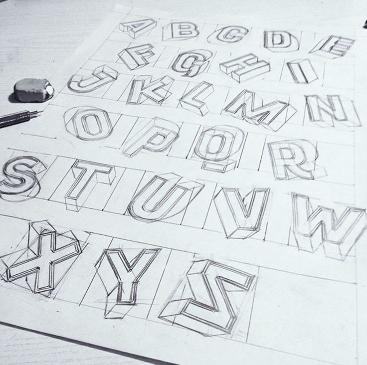 How To Draw 3d Block Letters A Z Drawings Inspiration In