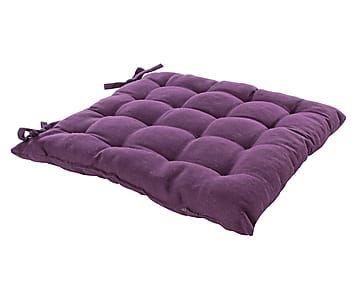 Подушка на стул SOFT - хлопок - фиолетовый - Д41xШ41xВ5