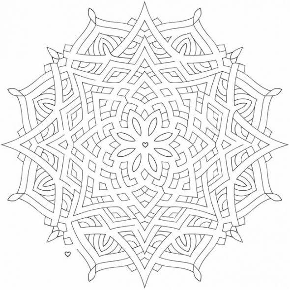 Henna Mandala Coloring Pages